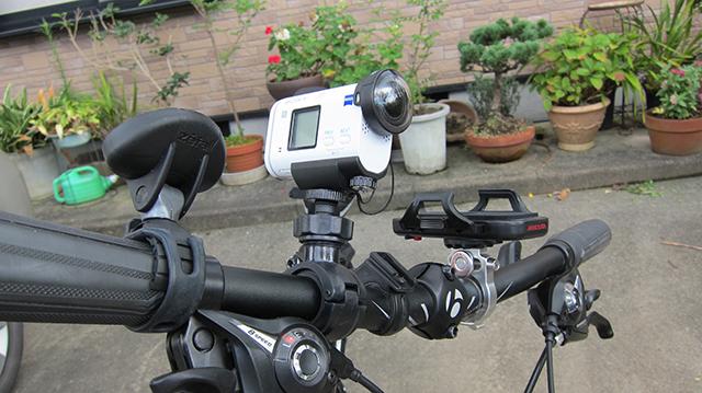 クロスバイク(TREK 7.2FX)にバックミラーと動画撮影用のカメラマウントを装着