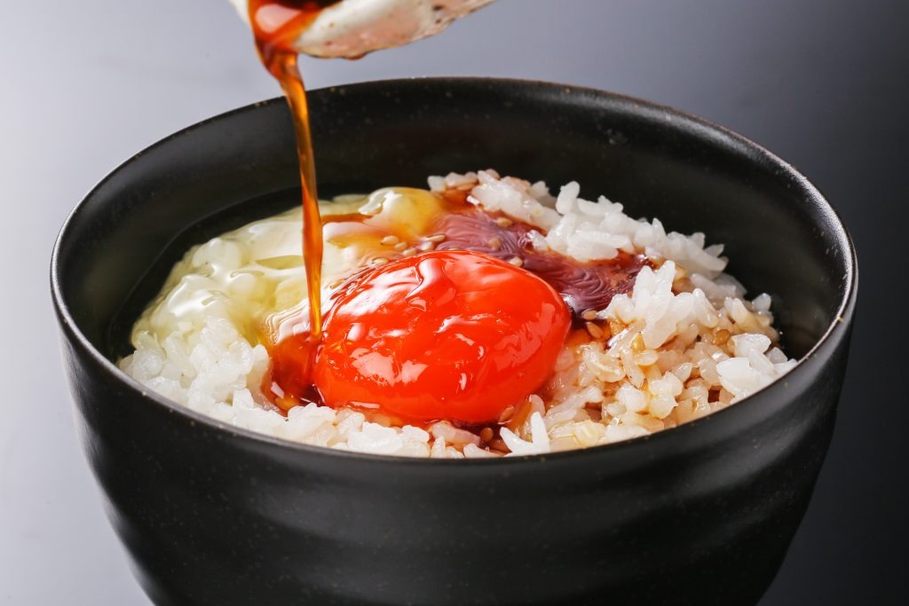 TKG食堂の卵かけご飯