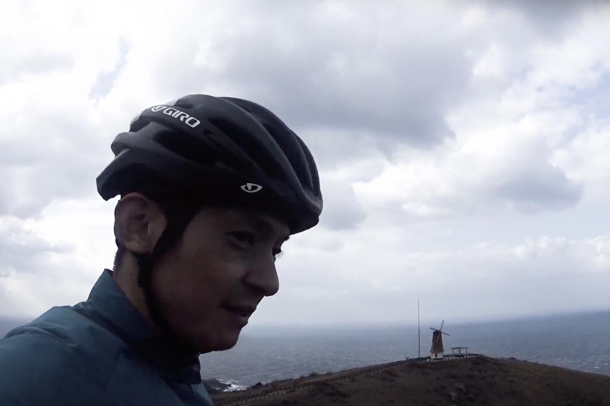 宗像市大島へサイクリングに行ってきました(砲台跡・風車展望所)